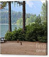 Camp By The Lake Canvas Print