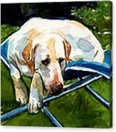 Camp Chair Canvas Print