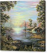 Camp On The Bayou Canvas Print