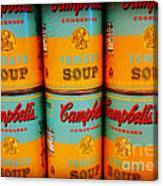 Campbell's Soup Retro Andy Warhol Canvas Print