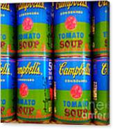 Campbell's Tomato Soup Retro Andy Warhol Canvas Print