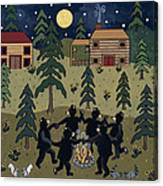 Campfire Dance Canvas Print