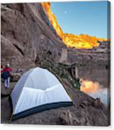 Camping Along The Labyrinth Canyon Canvas Print