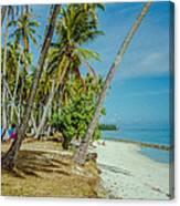 Camping In Tahiti Canvas Print