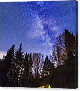Camping Under The Milky Way Canvas Print