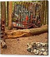 Campsite By The Box Car Canvas Print