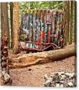 Campsite Near A Train Wreck Canvas Print