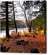 Campsite On Cary Lake Canvas Print