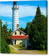 Cana Island Wi Lighthouse Canvas Print