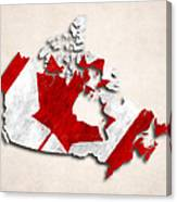 Canada Map Art With Flag Design Canvas Print