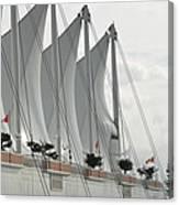 Canada Place Sails Canvas Print