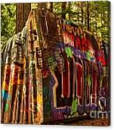 Canadian Box Car In The Forest Canvas Print