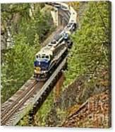 Canadan Railroad Above The Cheakamus River Canvas Print