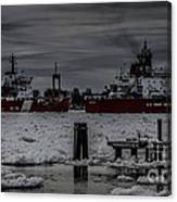 Canadian And United States Icebreakers Canvas Print