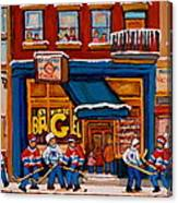 Canadian  Artists Paint Hockey And Montreal Streetscenes Over 500 Prints Available  Canvas Print