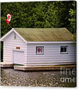 Canadian Boathouse  Canvas Print