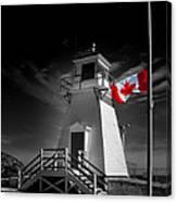Canadian Flag Half-mast Canvas Print