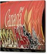 Canadian Graffitti Canvas Print
