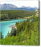 Canadian Highway Lake Canvas Print