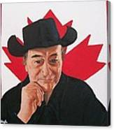 Canadian Icon Stompin' Tom Conners  Canvas Print
