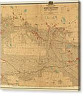 Canadian Mounted Police Map Canvas Print