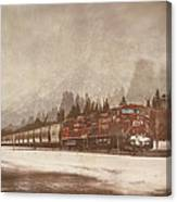 Canadian Pacific In Banff  Canvas Print