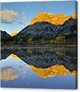 Canadian Rocky Mountain Autumn Landscape Canvas Print