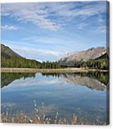 Canadian Rocky Mountains With Lake  Canvas Print