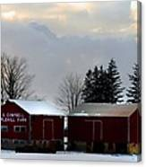 Canadian Snowy Farm Canvas Print