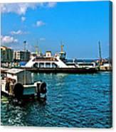 Canakkale Ferry Dock-turkey Canvas Print