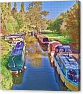 Canal Barges Canvas Print