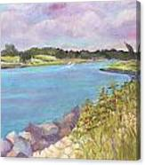 Canal Beach Canvas Print