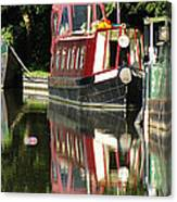 Canal Reflections Cropped Canvas Print