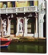 Canal Scene  Venice Italy Canvas Print