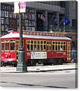Canal Street Streetcar Canvas Print