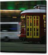 Canal Street Trolley Canvas Print
