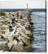 Canal Swim Risky Behavior Canvas Print