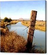 Canal View  Mesilla Canvas Print