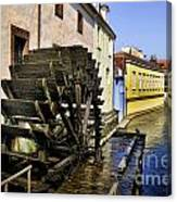 Canal Waterwheel Canvas Print