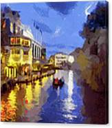Water Canals Of Amsterdam Canvas Print