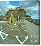 Canarian Loungers  Canvas Print