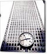 Canary Wharf Clock Canvas Print