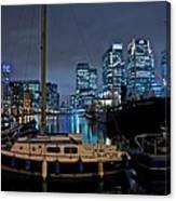 Canary Wharf Dockyards  Canvas Print