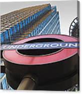 Canary Wharf Tube Sign Canvas Print