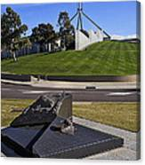 Canberra - Memorial And Parliament House Canvas Print