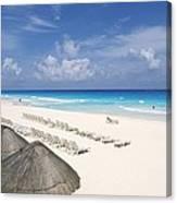 Cancun Beach Canvas Print