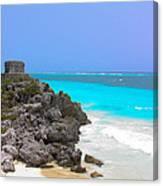 Cancun Ocean Front Canvas Print