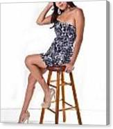 Candace On Stool Canvas Print