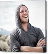 Candid Portrait Of Laughing Young Canvas Print