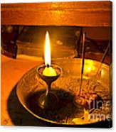 Candle And Incense Sticks Canvas Print